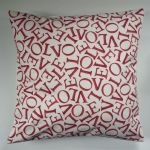 "Cushion Cover in Emma Bridgewater Love Red 14"" 16"" 18"" 20"""